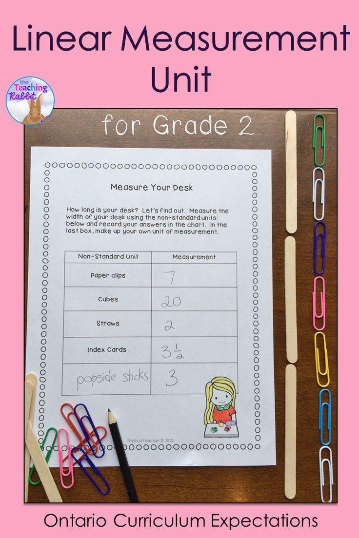Linear Measurement Unit for Grade 2 (Ontario Curriculum) | Ontario ...