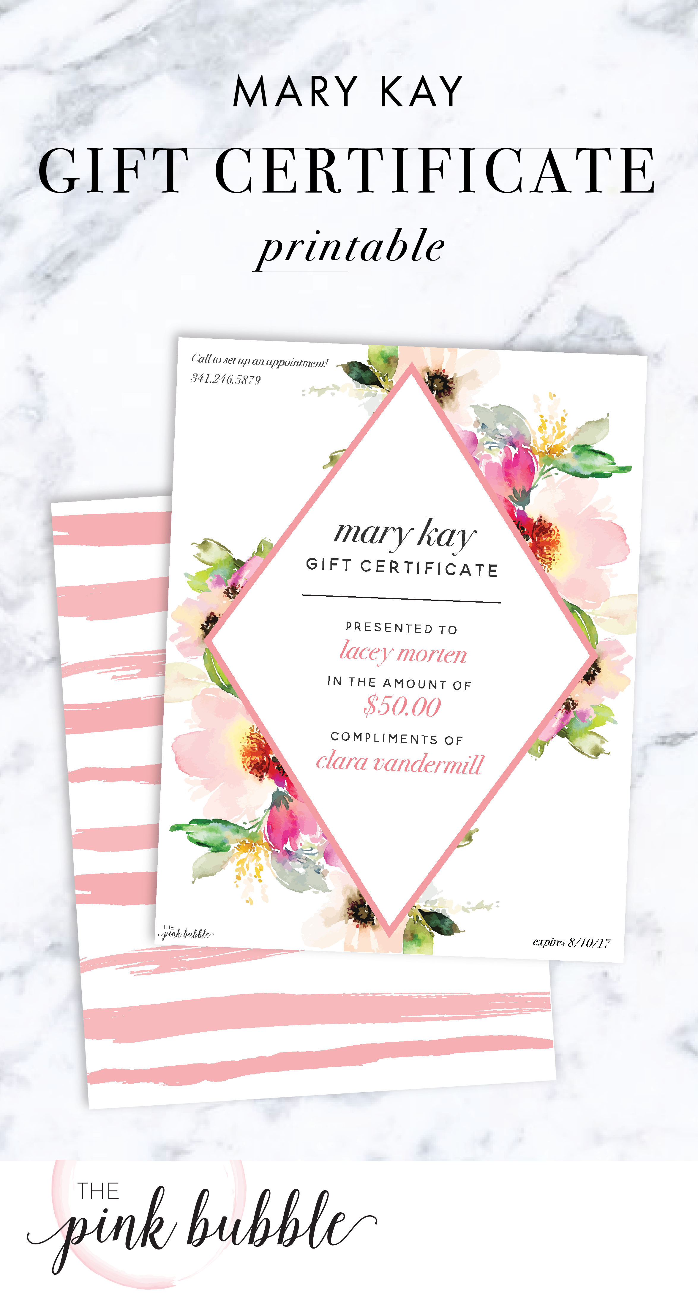 Mary Kay Gift Certificate Find It Only At Thepinkbubble
