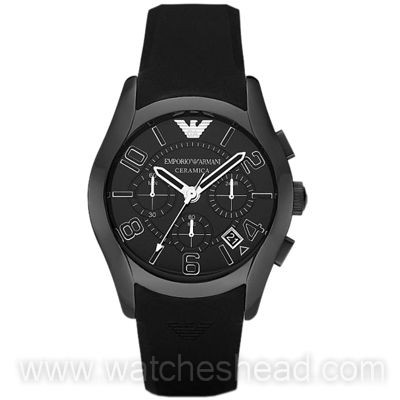92881ecfb58 AR1432 Emporio Armani Black Ceramic Chronograph Ladies Watch
