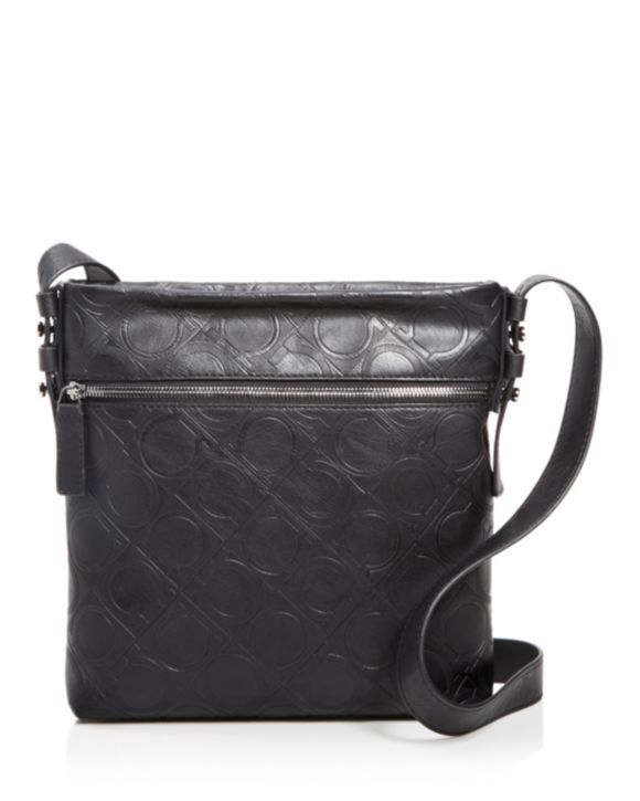 d56015a3a1fb Salvatore Ferragamo Vegan Leather Gancio Four Messenger Bag
