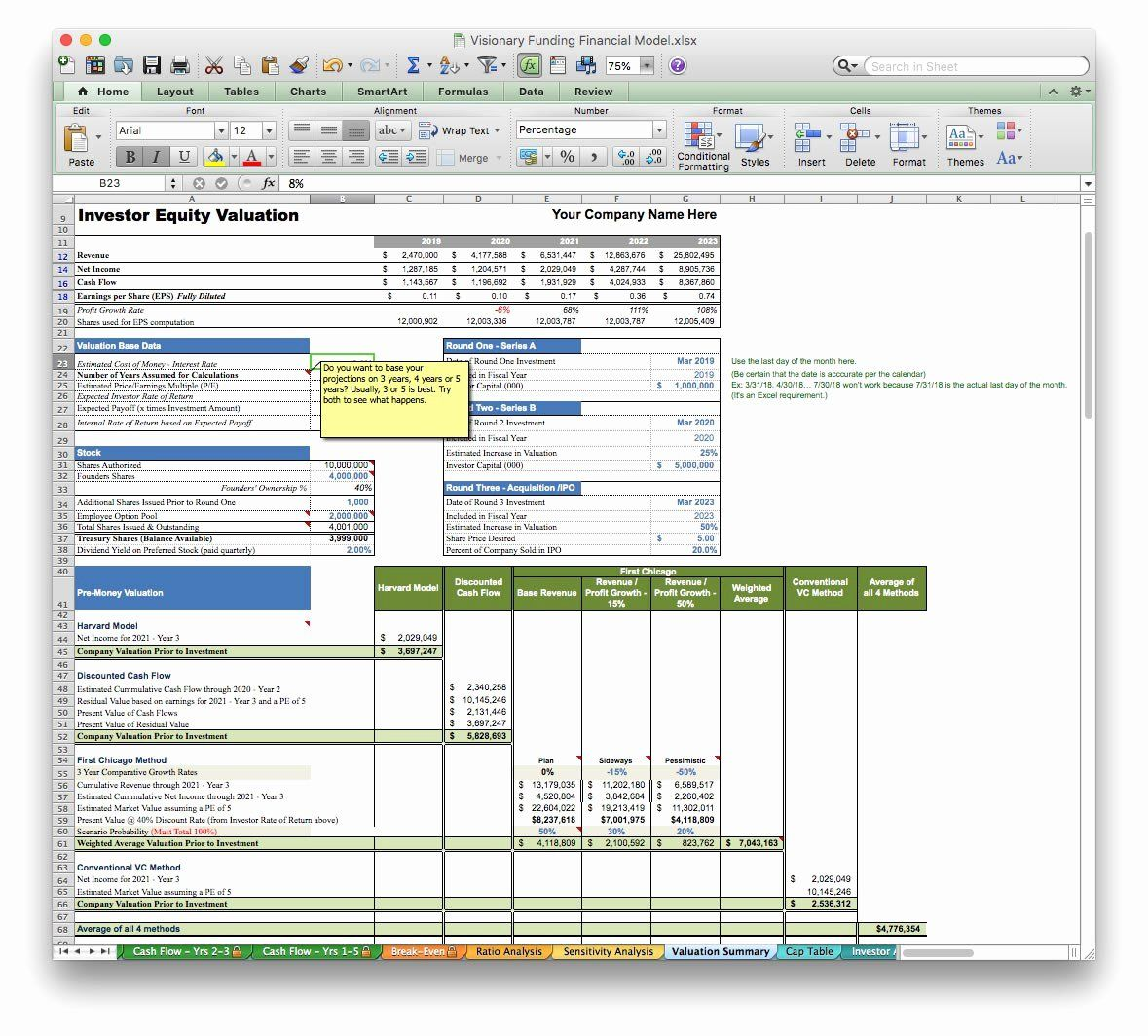 Financial Plan Template Excel in 2020 Financial plan