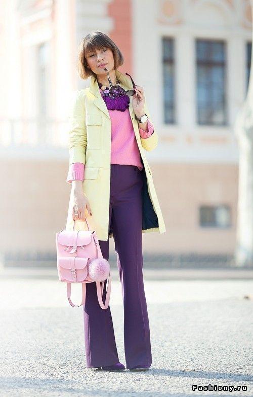 брюки женские клеш розовые