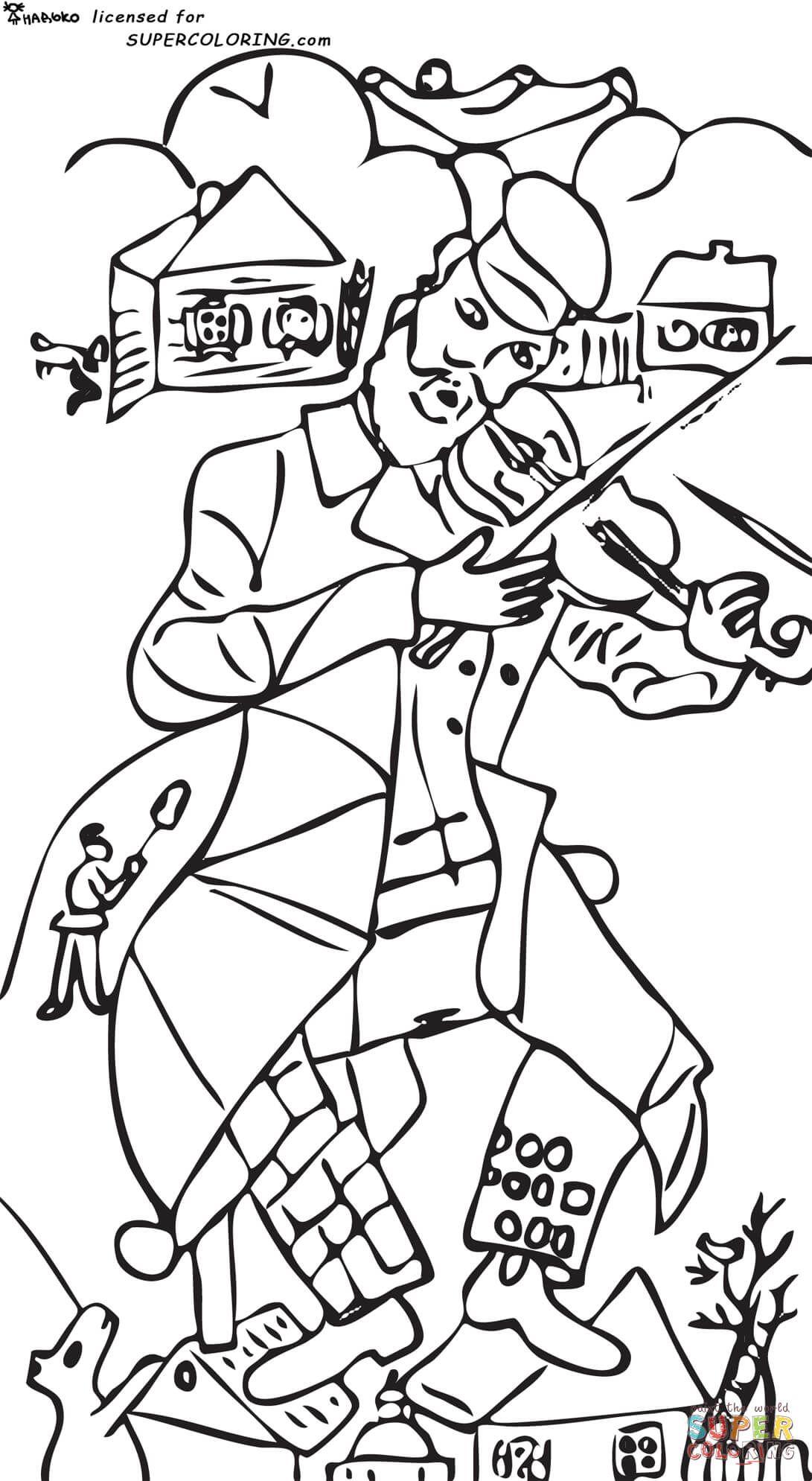 Dibujos de Marc Chagall para colorear   Arte   Pinterest   Marc ...