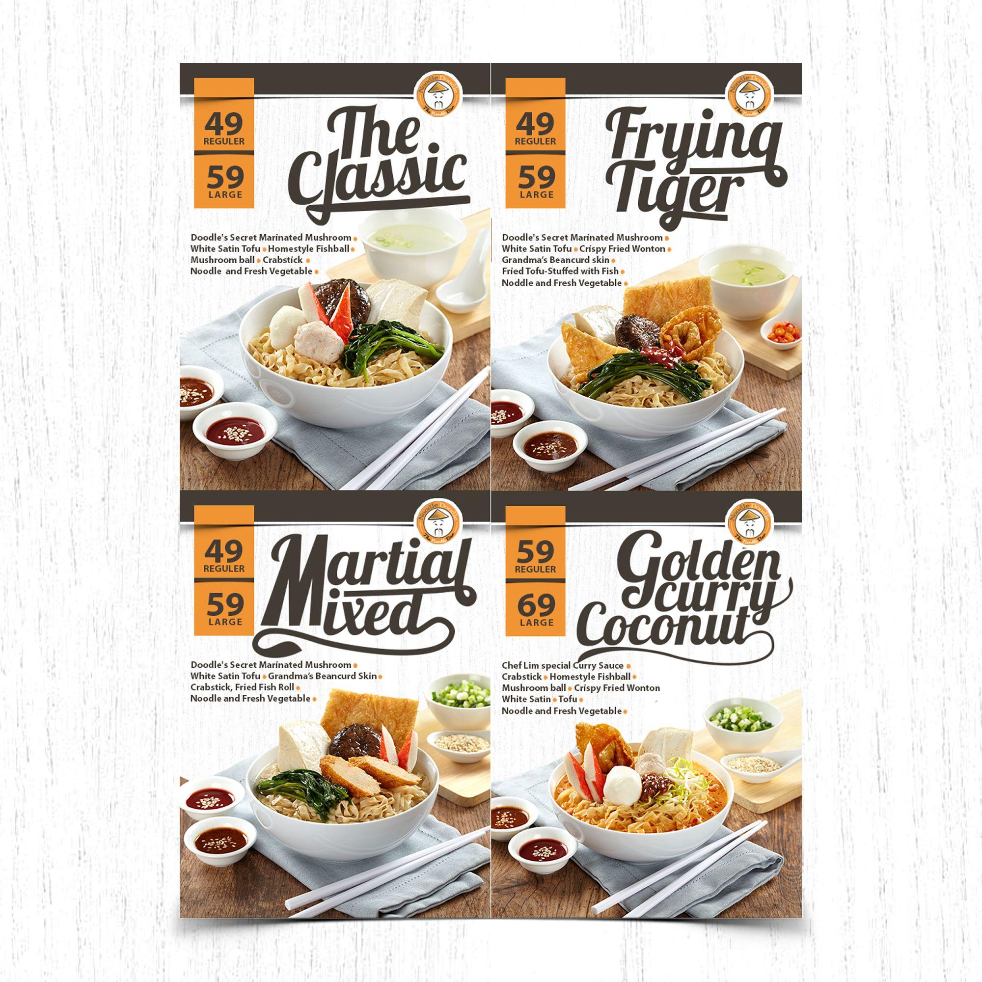 Menu Board Design For Modern And Hip Noodle Bar #2016