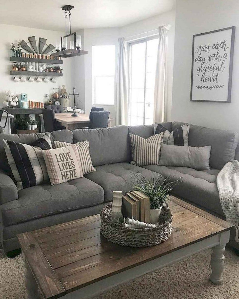 6 cozy modern farmhouse living room decor ideas #hom in 6