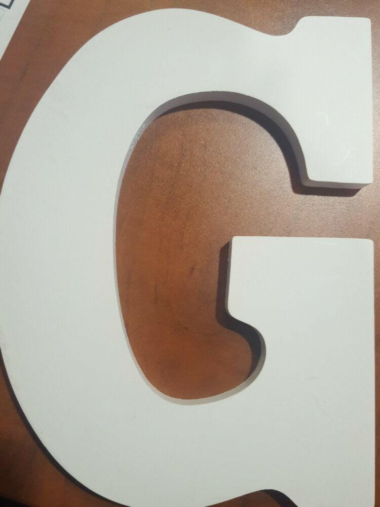 Artminds White Wood Letter G New Wall Decor Fashion Home