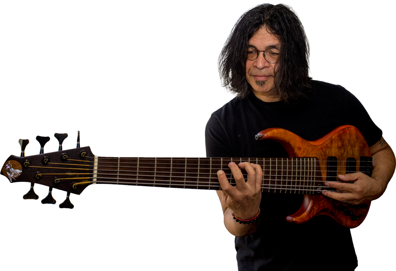 Jimmy Haslip With His 7 String Lefthanded MTD Bass