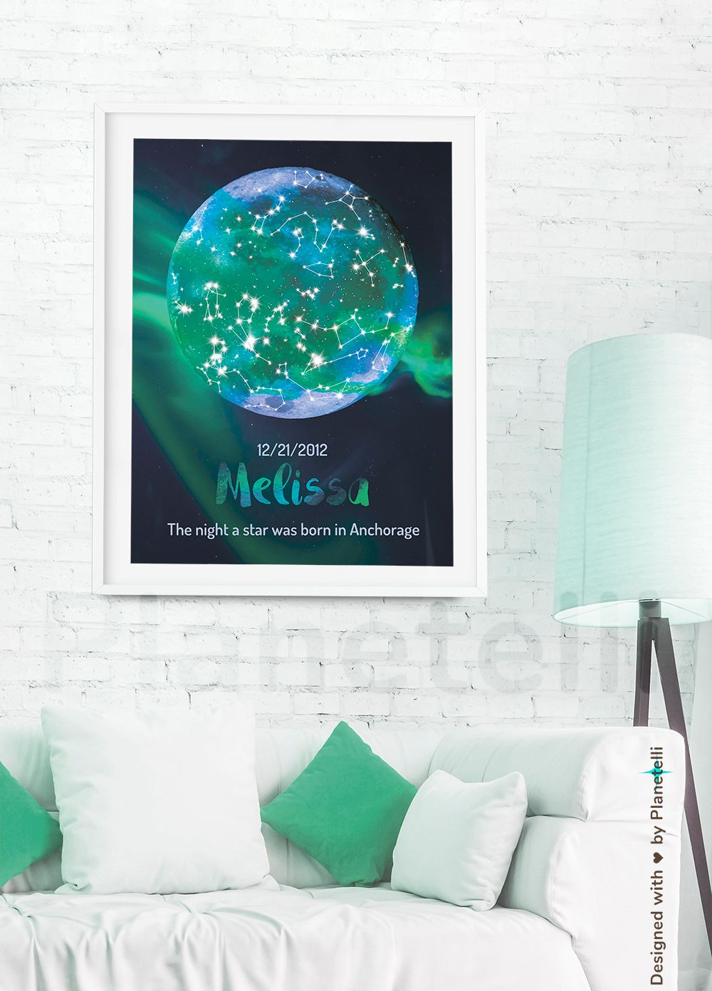 Isnt It A Brilliant Idea To Give This Personalized Sky Chart For Your Loved One Its Based On Date And Place Of The Moment Two First Met Dated