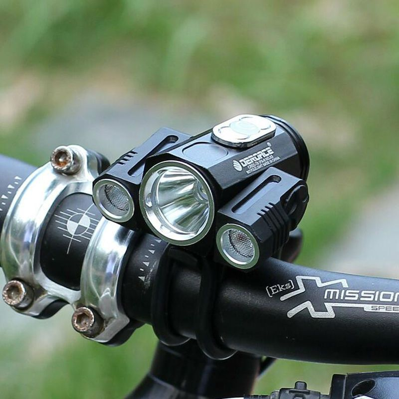 Cree T6 Led Bike Lamp X3 Bicycle Light Charge Battery Head Lamp