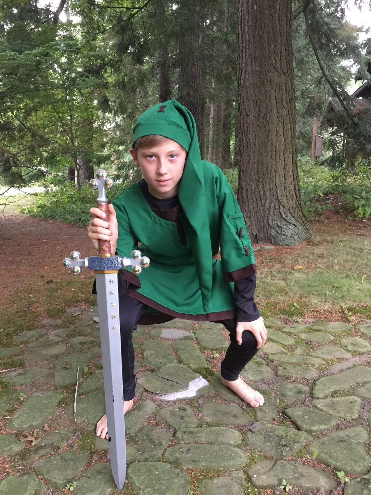 Elf Warrior aka Link costume by Charades with Disguise Sword, available at FeeFiFoFun Costume Concierge.