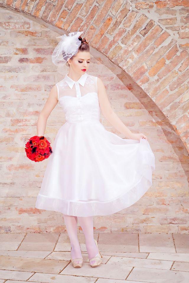 Rockabilly Bride Pinup Vintage Wedding Dress Bridal