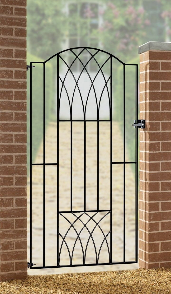 The Verona metal side gate features an attractive art-deco style ...