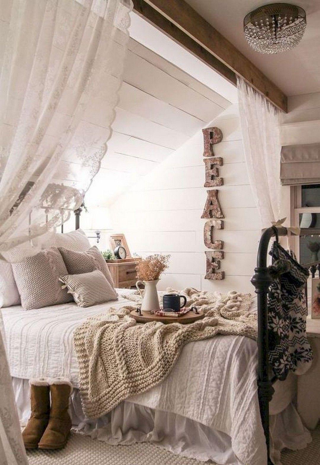 Schöne Bauernhaus Schlafzimmer, die in jedem Haus Designs
