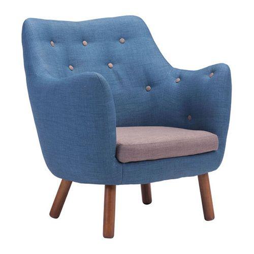 Best Zuo Modern 900064 Liege Chair Cobalt Blue Mid Century 400 x 300