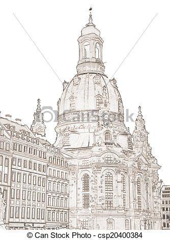 Stock Illustration Dresden Frauenkirche Stock Illustration Lizenzfreie Illustrationen Stock Clip Art Piktogramm S Frauenkirche Dresden Schlosszeichnung