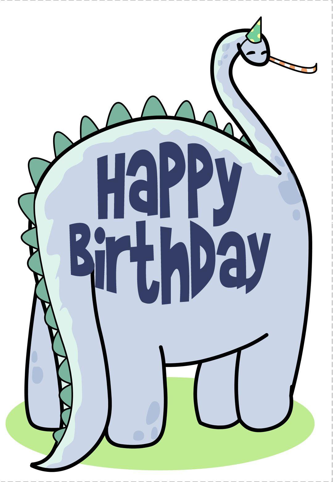 Free Printable Birthday Card Dinosaur Greetings Island Birthday Wishes Greeting Cards Birthday Card Printable Birthday Wishes Greetings