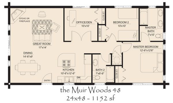 Log Cabins Floor Plans And Pictures Hickory Spring Log