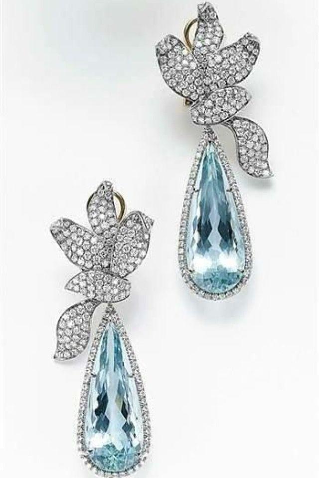 Margherita Burgener Aquamarine Diamond And Anium Earrings Another Phenomenal Pair Of Bridal