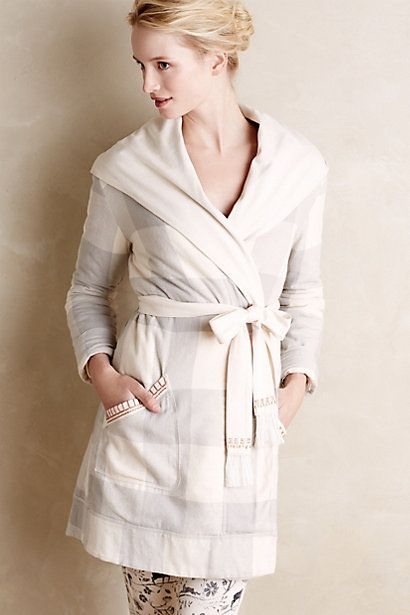 8f9193cd770a00 Flannel Sherpa Robe #anthrofave #anthropologie | AW16 | Flannel robe ...
