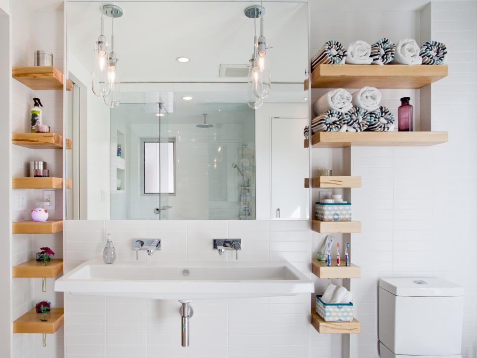 15 Smart Bath Storage Ideas Small Bathroom Storage Bathroom Wall Shelves Bathrooms Remodel