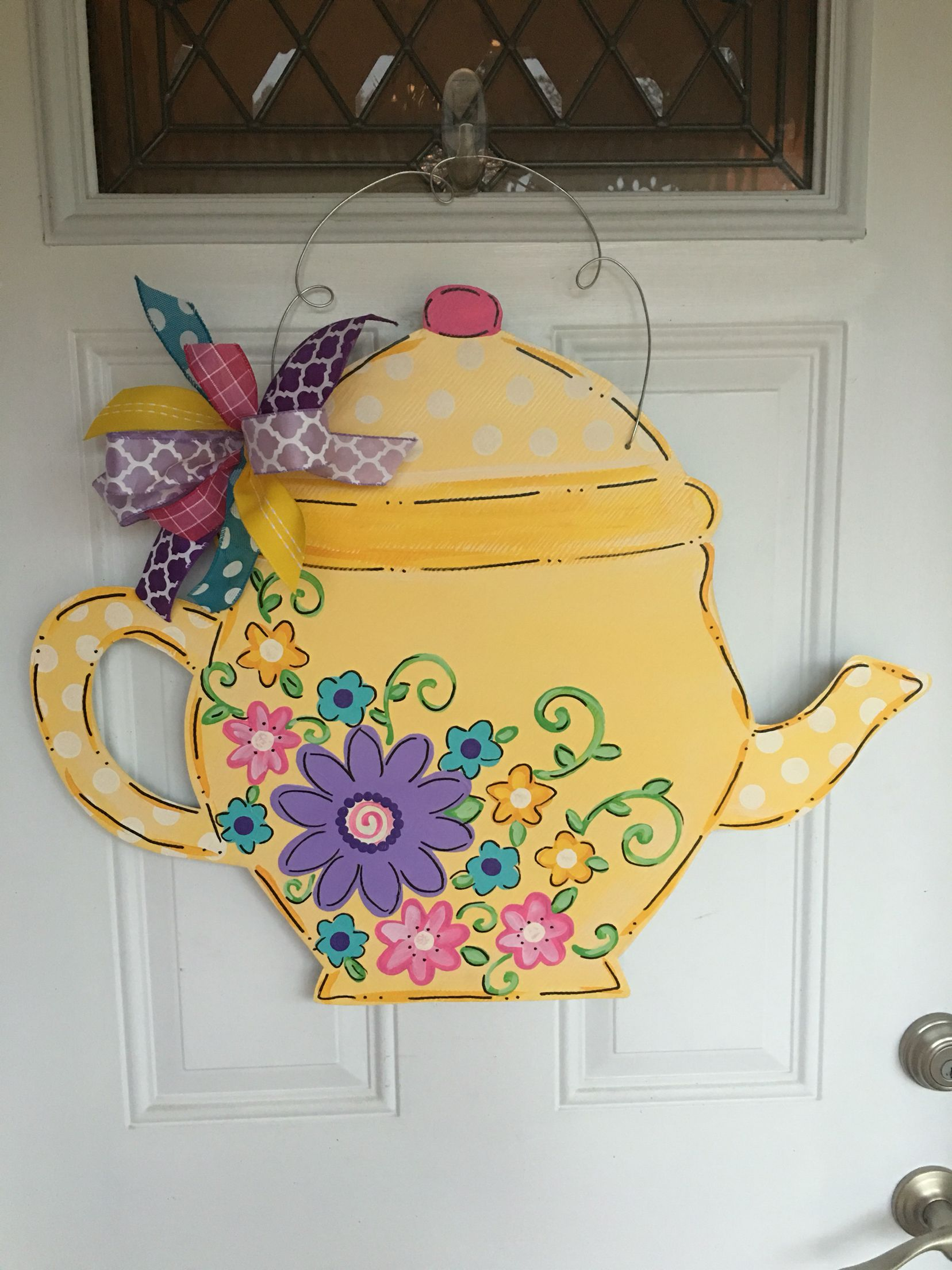 Teapot door hanger by LilyPad Designs   For the door   Pinterest ...