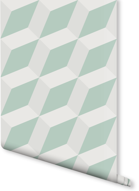 Slanted Cube Geometric Wallpaper | Milexa