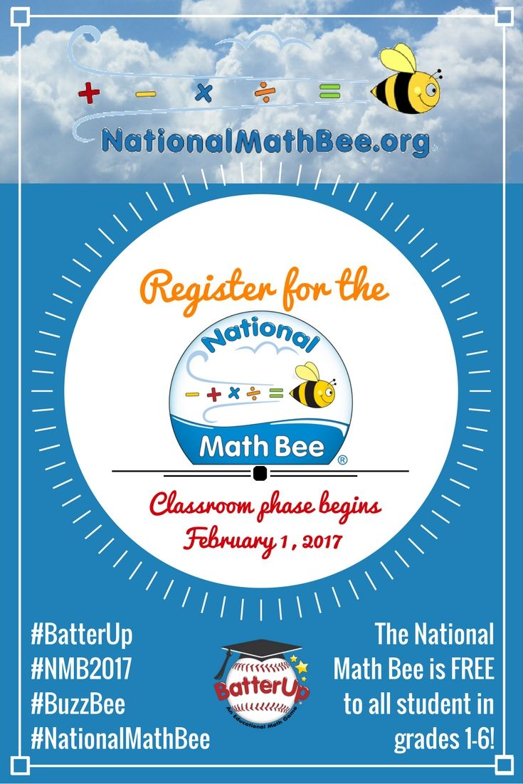The National Math Bee is a fun and exciting way to help students in ...