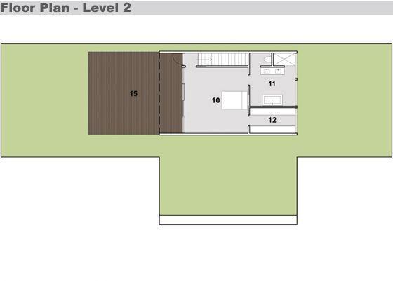 Plano planta alta arquitectura for Casa minimalista vidriada