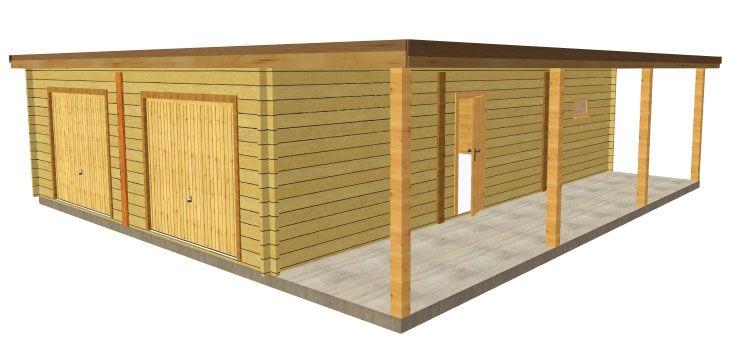 garage toit plat avec abris vehicule garage Pinterest