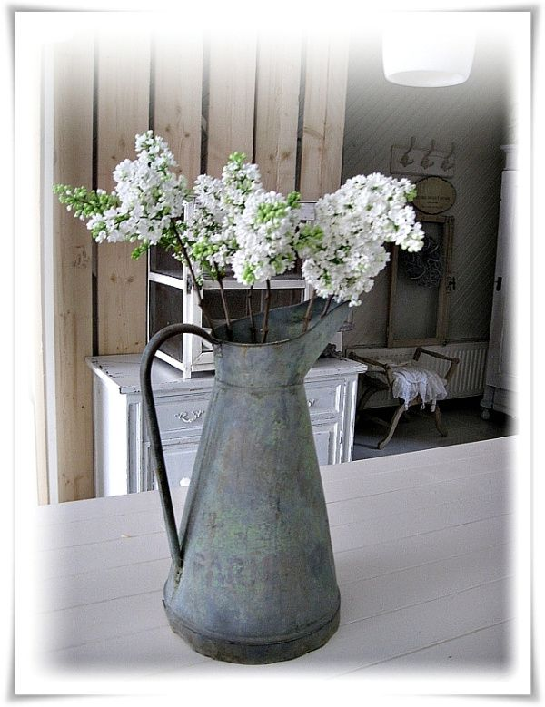 White Lilacs in a French Can