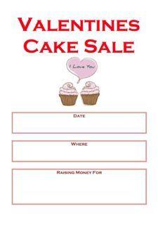 Valentines Cake Sale Poster Bake Sale Posters Pinterest Bake