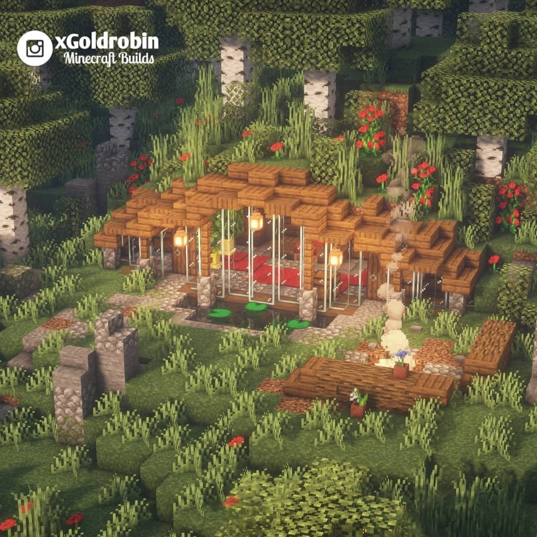 "Goldrobin - Minecraft Builder's Instagram profile post: ""House in a hill!"
