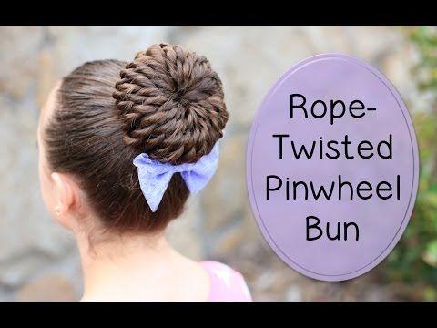 Rope-Twisted Pinwheel Bun | Prom Hairstyles #hairstyles #CGHRopePinwheelBun #Bun #twists #updo #promhairstyle #pinwheel bun