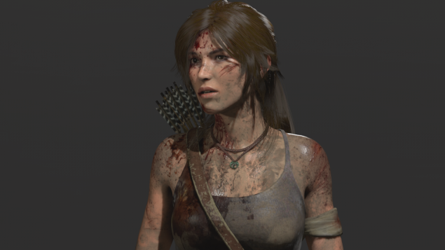 tomb raider game lara croft model