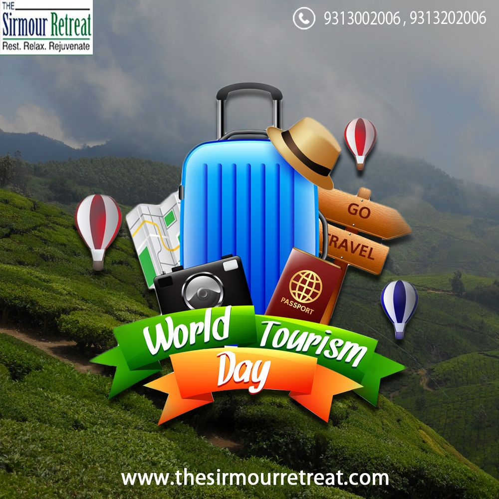 Wish you all #HappyWorldTourismDay! 🛣️ On this #WorldTourismDay2017, plan a #Trip to #HimachalPradesh🏔️, and book a #LuxuriousResort🏡 at The Sirmour Retreat to celebrate your #TourismDay.  Visit Us:👉 https://goo.gl/zjzfL7 Call Now: ☎️ +91-9313002006 / +91-9313202006