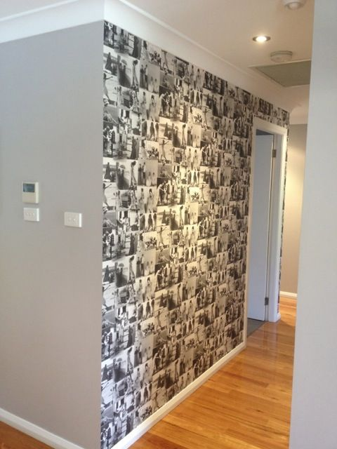 Black And White Photo Collage Feature Wall Black And White Photo Wall Photo Wall Photo Wall Collage