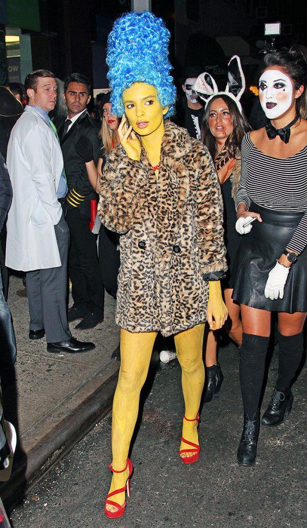 Halloween 2020 Emily Emily Ratajkowski Channels Marge Simpson in 2020   Best celebrity