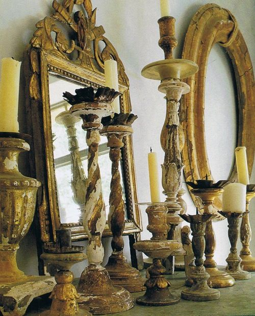 gold, mantel, mirror