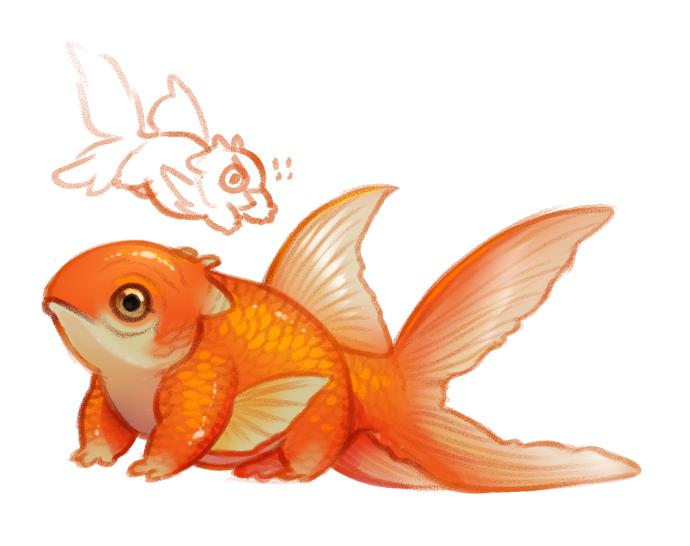 Fantasy Gold Fish 3d Model Fantasy Model Goldfish Goldfish Art