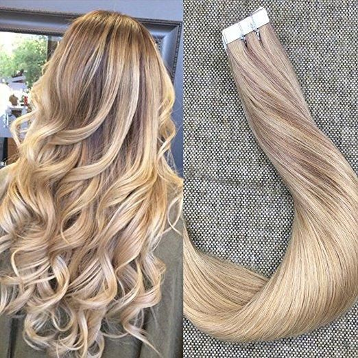 100 Human Hair Tape In Extensions Remy Extensions10