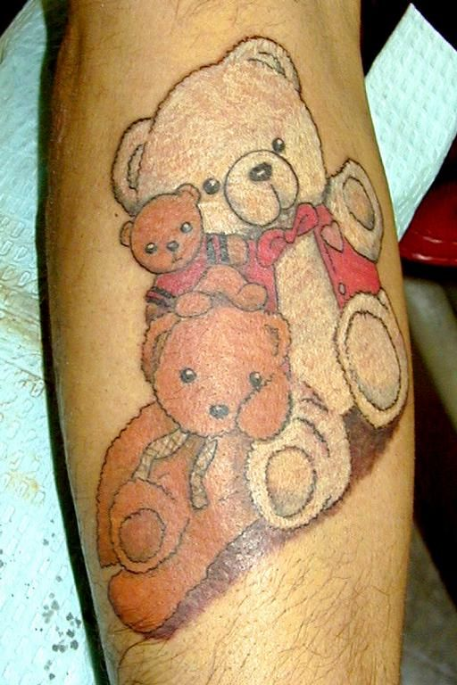 love this style could see some of my kids toys on my left shoulder rh pinterest ca Teddy Bear Tattoo Designs Evil Teddy Bear Tattoo Designs