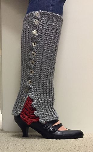 Cloudstrider Spats (Lace Version) pattern by Brenda K. B. Anderson ...