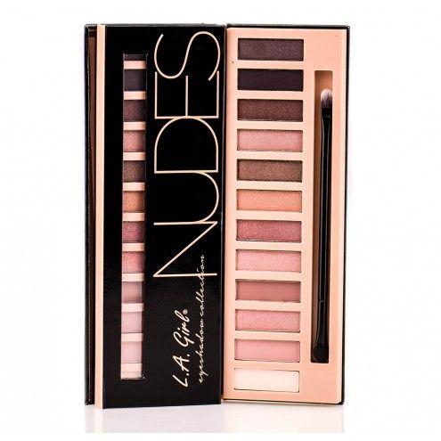 Палитра теней L.A. Girl Beauty Brick Eyeshadow Collection Nudes
