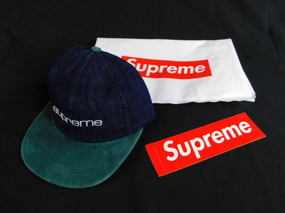 ce1ab58f403 Supreme Denim Suede Compact Logo 6 Panel Cap  229081  fashion  clothing   shoes  accessories  mensaccessories  hats (ebay link)