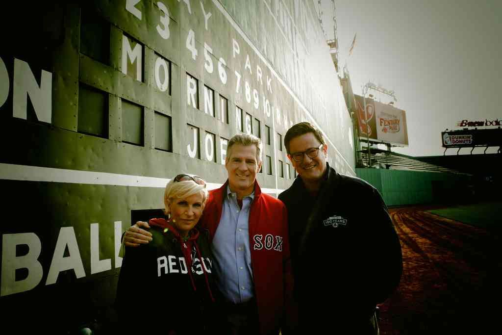 Joe and Mika with Sen. Scott Brown at Fenway Park!