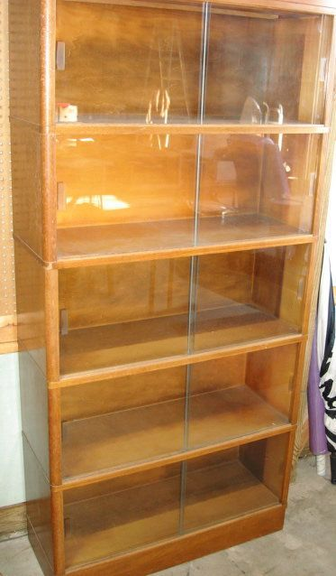1950s Barristers Bookcase Sliding Glass Doors 5 Section Ebay