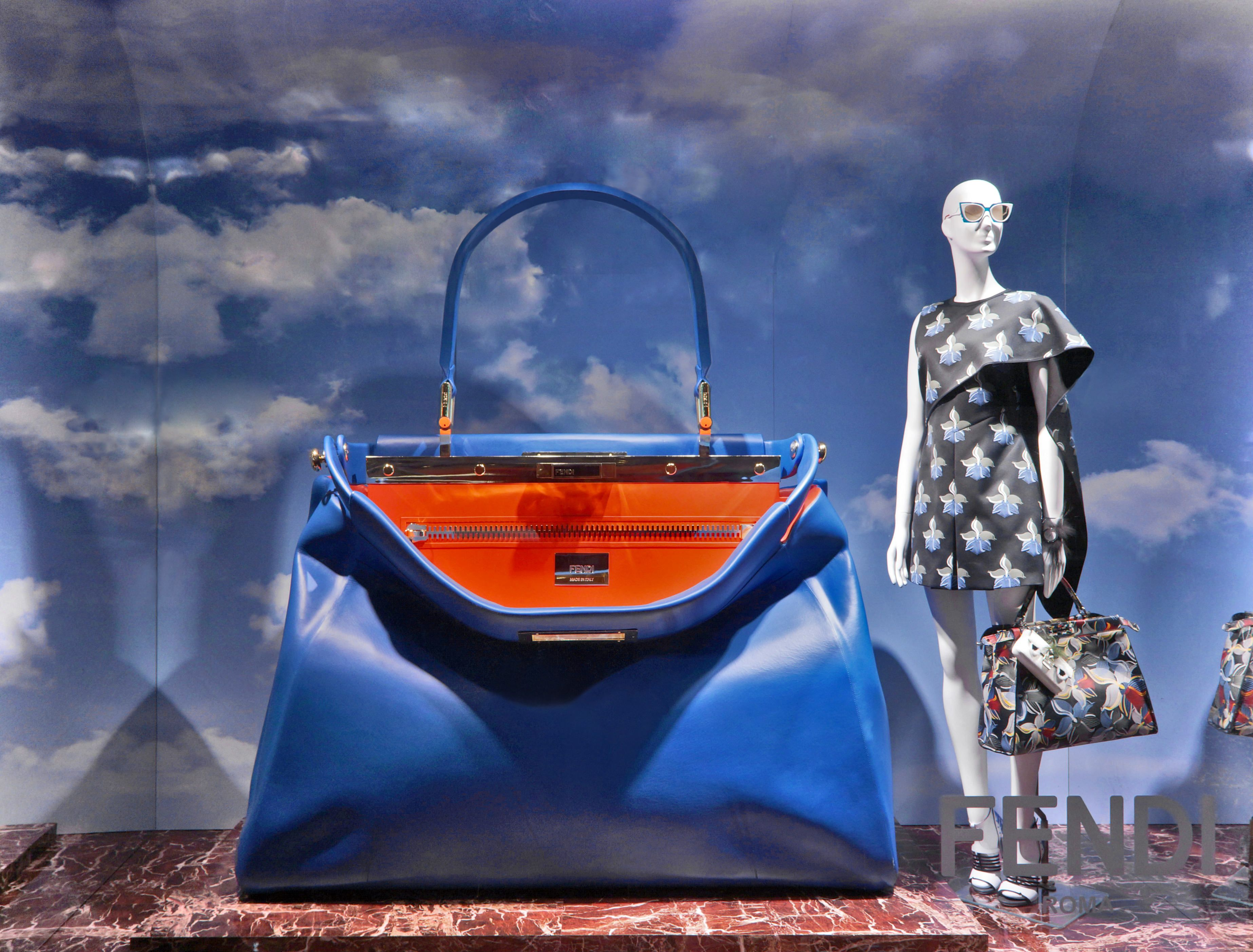 The new Fendi window theme at Saks Fifth Avenue in New York