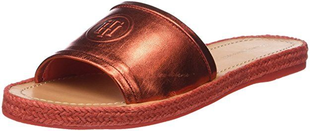d7472163f71de Tommy Hilfiger Women s Metallic Flat Mule Open Toe Sandals