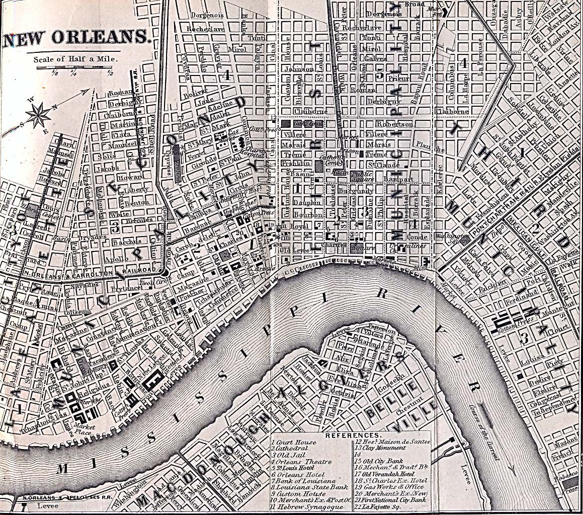 NEW ORLEANS CITY MAP 1  BOOK NEW