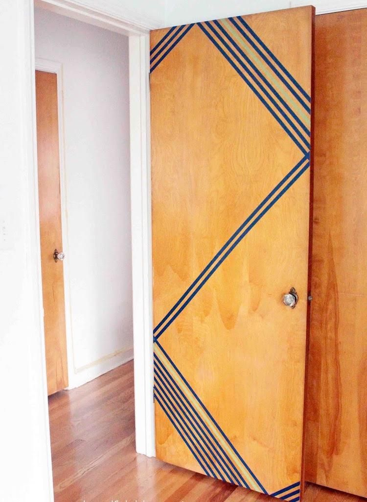 washi tape ideas diy project door wood decorate | Home Design ...